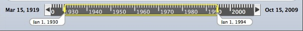 MM 2.0 Decades/Years Date range slider